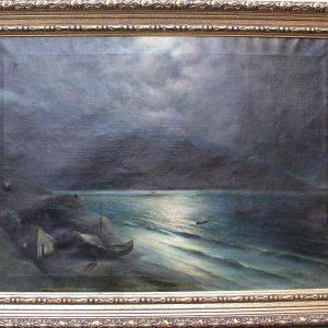Картина Ночь на море Капустин Григорий 19 век