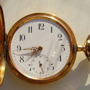 Карманные золотые часы Репетир Швейцария нач ХХ века