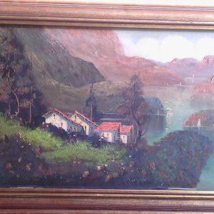 Картина Озеро Комо Remi Р. XIX век