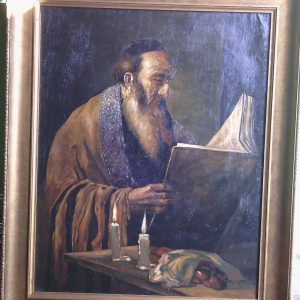 Картина Чтение Торы  M.Polarh 1920-е годы
