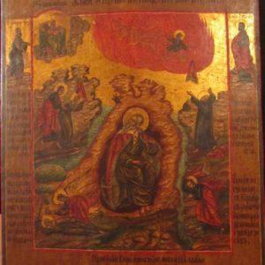 Икона Огненное восхождение Ильи Пророка XX век