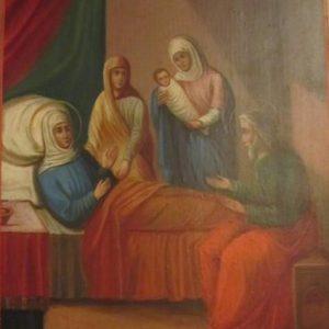 Икона Рождество Иоанна Крестителя XIX век