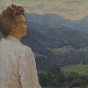 Картина В Карпатах Лобода И.И. 1980-е годы
