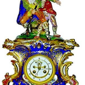 Часы с фигурками Фарфор. з-д братьев Корниловых 1850-1860 г
