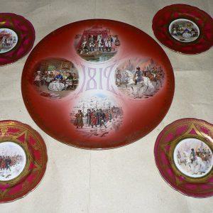 5 настенных тарелок посвящ. Отечественной войне 1812 г нач ХХ века
