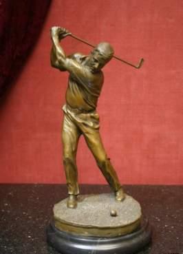 Скульптура Игрок в гольф перв пол. ХХ века  Бронза