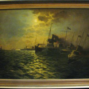 Картина Ночной рейд  Ян Хендрикс нач ХХ-го века