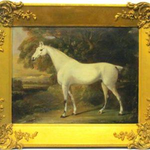 Картина Белый конь Томас Бич конец XVIII-го века
