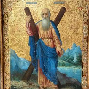 Икона  Андрей Первозванный XIX-ый век