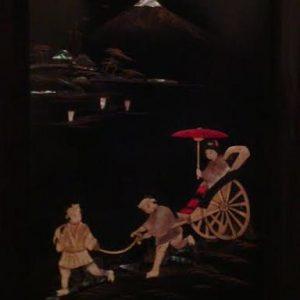 Пара картин Гора Фудзияма Япония  период Тайсё - Сёва