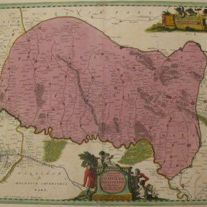 Антикварная карта Подолии  Украина. Картограф: Гийом Ле Вассер де Боплан 1720 год