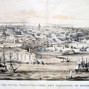 Одесса Цветная литография середина XIX век