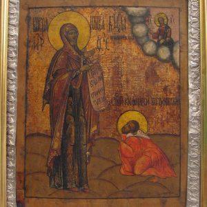 Икона Боголюбской Богоматери с Андреем    18 век