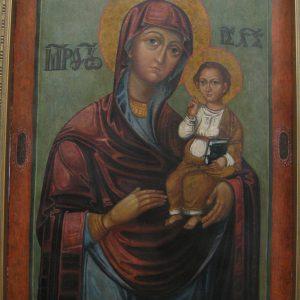 Икона Богоматерь Одигитрия  перв. треть 17-го века