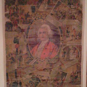 Художественный плакат Шут Петра I Балакирев с житием кон.19 века гелиогравюра
