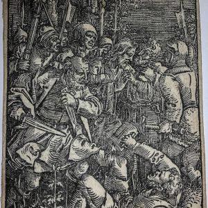 Гравюра Предательство Иуды автор Ганс Себальд Бехам  16 век