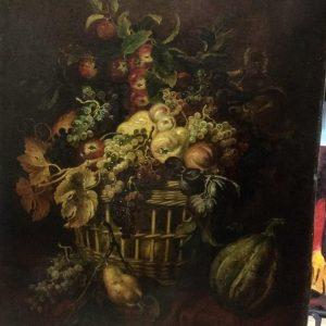Картина Натюрморт с фруктами и тыквой автор Adam Kimz  рубеж 18-19 веков