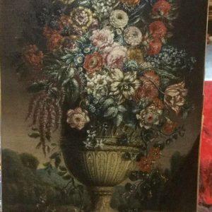 Картина Натюрморт с цветами и птичкой автор J.G.C.Coklers  1777 год