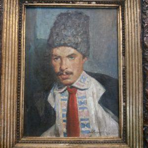 Картина Украинский козак  автор А.Михайловский 1924 год