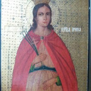 Икона Св. царица Ирина 19 век