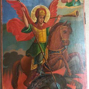 Икона архангел Михаил грозных сил воевода  19 век