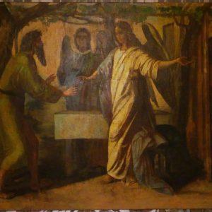 Картина Благовещение  19 век Россия